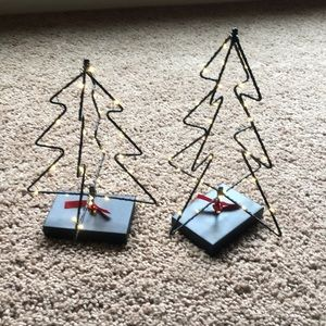 Set of two wire light up trees Hallmark